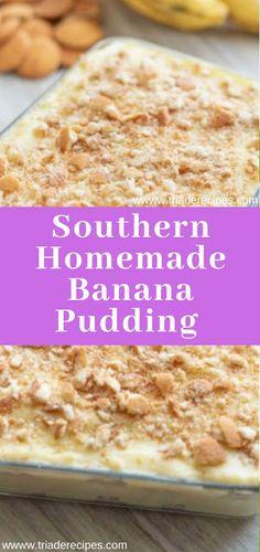 Southern Homemade Banana Pudding Recipe, Banana Pudding Recipes, Flan, Tiramisu Recipe, Pie Cake, No Bake Desserts, Yummy Treats, Cooking Recipes, Cheesecake