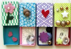 preschool mothers day treasure box: lovely idea. Children decorate a matchbox and write a little note to their mums inside!