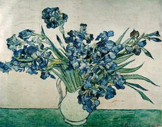 Vincent van Gogh - Bunch of Irises Even though this piece is a vangogh, it reminds me a lot of the paintings my grandmother painted and had hanging in her house when I was small