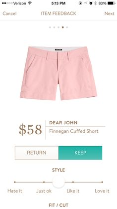 Dear John Finnegan Cuffed Shorts. Love the style but not the color. Prefer bright colors like green or blue.