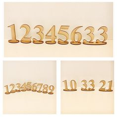 Table Number Wooden Free Standing MDF DIY Raw Event Wedding Party Deco– The Renmy Store