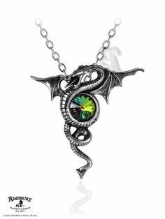 Dragon Anguis Aeternus necklace - Alchemy Gothic Dragon of Eternity Pendant - Gothic Dragon Serpent Jewelry
