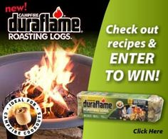 Win a Fire Pit And Duraflame Campfire Roasting Logs!