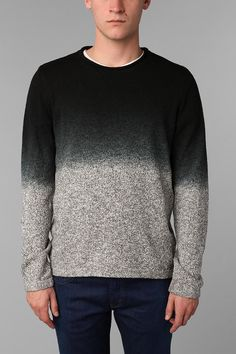 Your Neighbors Dip-Dyed Crew Sweater, men's hipster clothing