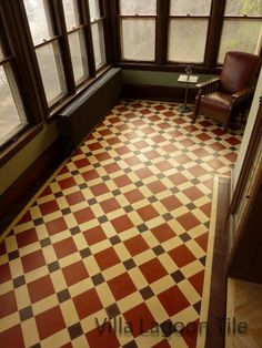 NY-- Brooklyn brownstone home with a traditional encaustic tile pattern made from small pieces cut onsite by the tile-setter. Cement tile is easy to cut on a standard wet-saw and a diamond blade. It is a lot more cost effective to have your tile setter cut the pieces at time of installation rather than to order small tiles. Villa Lagoon Tile