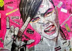 """Saatchi Online Artist Conrad Jones; Painting, """"Rebel"""" #art"""