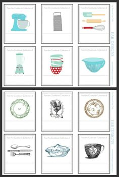 Free printable for bookplates to add to your cookbook collection. For download visit www.eabdesigns.ty...