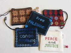 Different styles of coin purses