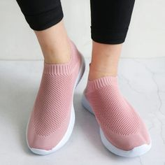 Mila - Breathable Sneakers Mesh Socks, Slip On Sneakers, Sneakers Women, Vegan Sneakers, Sports Shoes, Shoes Tennis, Black Knit, Sock Shoes, Sport Fashion