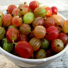 Gooseberries - Not unusual for the UK but may be of interest to American gardeners.