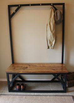 coat rack bench from www.carpenterjames.com