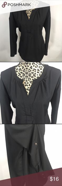 """Two by Vice Camuto Two by Vince Camuto;  Plunging Neckline; Loose Fit:  26"""" Length, 44"""" Bust, Drop Shoulder 19"""" Sleeve;  Roll Sleeve Side Button;  100% Polyester Two by Vince Camuto Tops"""