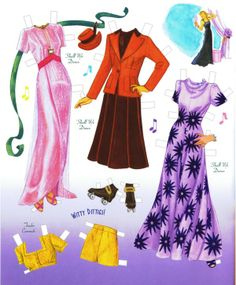 Ginger Rogers Paper Doll
