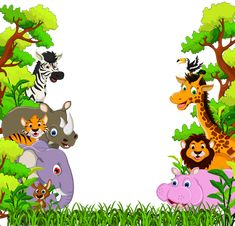 Here you find the best free Free Printable Baby Jungle Animal Clipart collection. You can use these free Free Printable Baby Jungle Animal Clipart for your websites, documents or presentations. Cartoon Baby Animals, Jungle Cartoon, Jungle Animals, Cute Animals, Jungle Jungle, Forest Animals, Jungle Images, Jungle Pictures, Jungle Theme Birthday