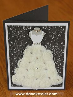 And – as any good card maker knows, you can't forget the envelope! It's like wrapping paper for a gift! I used silver glitter paper for the ring base to ...
