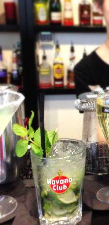 Mojito Cocktail ~ 1 1/2 oz White rum, 6 leaves of Mint, Soda Water, 1 oz Fresh lime juice, 2 teaspoons Sugar
