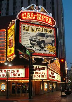 Downtown Reno Hotel Casinos | Pictures Reno Nevada casinos hotels downtown Reno gambling photographs ...