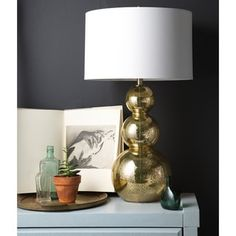 ABBYSON LIVING Gold Mercury Antiqued Glass Table Lamp (Set of 2) - 17206666 - Overstock.com Shopping - Big Discounts on Abbyson Living Lamp Sets
