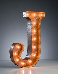 Vintage Marquee Lights Letter J by VintageMarqueeLights on Etsy