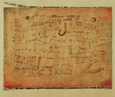 Titre de l'image : Paul Klee - Inschrift, 1921.