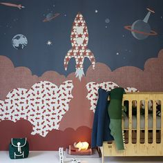 Have fun with the #wallpaper and brighten up your kids room. Bold graphics and beautiful colours, your kids will love these new wallpapers from Inke Inke, Imagination on Your Walls https://petitandsmall.com/inke-wallpaper-imagination-your-walls/ #kidsroom #kidsroomdecor
