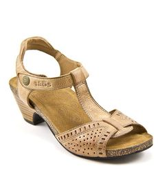 Love this Camel Teezer Leather Sandal by Taos Footwear on #zulily! #zulilyfinds