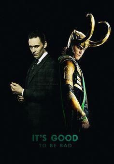 He look more evil as Tom than as Loki in this pic... I love it! <--those cheek bones....