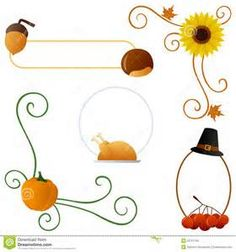 Thanksgiving clip art - Bing Images - Name cards