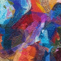 Abstract by Marlot Pennings (The Netherlands).  Art quilt.