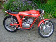 Vintage Gilera Cafe Style Motorcycle. Beautiful Two-Stroker!