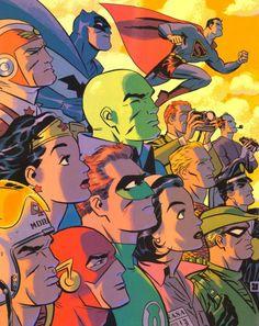 Justice League, New Frontier, Darwyn Cooke, 1950s era, retold, birth of super heroes, Challengers