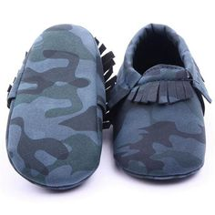 Camo Soft Tassel Shoes
