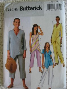 Butterick Misses Womens Top and Pants Sewing Pattern B4238 UC Uncut FF Size 20…