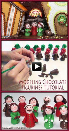VIDEO Modeling Chocolate Figurines Tutorial