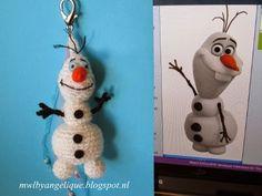 made with love: Olaf/ Frozen Crochet Olaf, Crochet For Kids, Crochet Gifts, Crochet Toys, Knit Crochet, Crochet Backpack, Crochet Keychain, Olaf Frozen, Diy Car