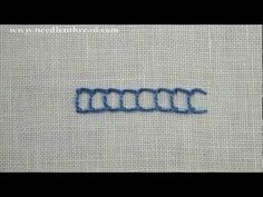 I ❤ embroidery . . . Open Chain Stitch Video Tutorial~ The open chain stitch works well on lines, curves, and circles. It creates a square-looking stitch if space is left between the individual stitches, but you can also close up the open space between the stitches, to create a more solid-looking line.