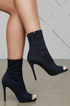 785faabd9565 Hudson Peep Toe Bootie (Black) · Mules TalonsHot ShoesShoes HeelsShoe  BootsHigh ...