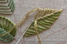 Anna Scott: Blanket stitch sheets – part one - Stickerei Ideen Embroidery Leaf, Simple Embroidery, Hand Embroidery Stitches, Embroidery Needles, Silk Ribbon Embroidery, Hand Embroidery Designs, Embroidery Techniques, Cross Stitch Embroidery, Needlepoint Stitches