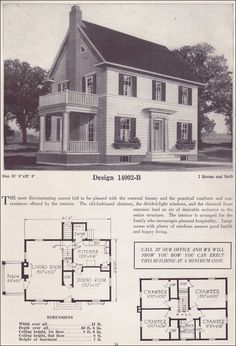 1925 Colonial Revival House Plans - Classic Home - Two-story - 1925 - Bowes Co. - Hinsdale, IL