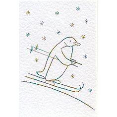 Christmas Skiing Penguin... $$$