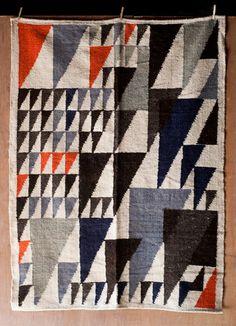 Colorful Geometric Handmade Fair Trade Guatemalan Rug
