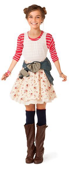 stripes and florals yay! Tween looks