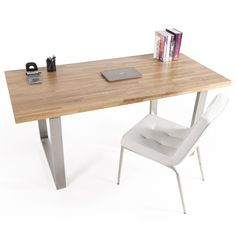 1000 images about le mobilier pro on pinterest bureaus composers and tables - Bureau chene massif moderne ...