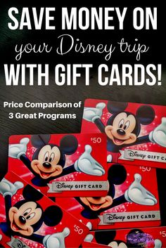 Did you know that you can save money booking a Disney Vacation by paying with gift cards? Read where you can purchase them for less than face value!