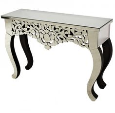 16TM519 konzolasztal, mely teljes egészében tükör borítással készült. Vanity Bench, Entryway Tables, Furniture, Home Decor, Decoration Home, Room Decor, Home Furnishings, Home Interior Design, Dresser To Vanity