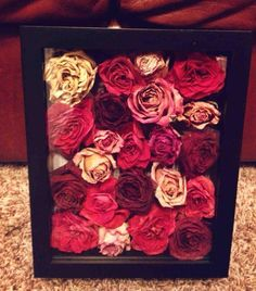 dry all of the flowers from your bouquet, put them in a shadow box and keep them forever or give them to your parents!