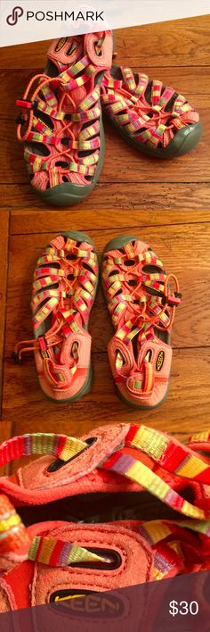 EUC Girls' Keen Newport Water Shoes Colorful, open design Newport design Keen water shoes in excellent condition (worn twice, briefly). Keen Shoes Water Shoes