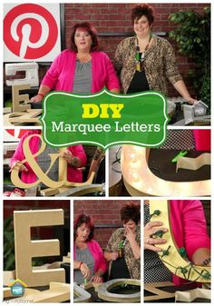 DIY Marquee Letters with Inspired by Pinterest on My Craft Channel.com #diy #marquee #letters @Lori Bearden Allred {allreddesign.net}