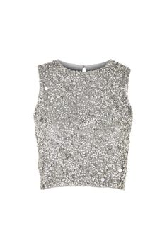 **Picasso Embellished Crop Top by Lace & Beads - Topshop