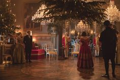 "Promotional still from the Victoria 2017 Christmas Special: ""Comfort and Joy. Victoria 2017, Victoria Bbc, Victoria Series, Royal Christmas, Christmas Movies, Christmas Trees, Queen Victoria Tv Show, Masterpiece Theater, Films"